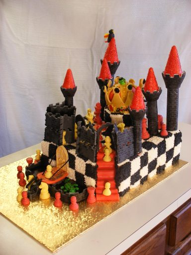 Chess castle cake
