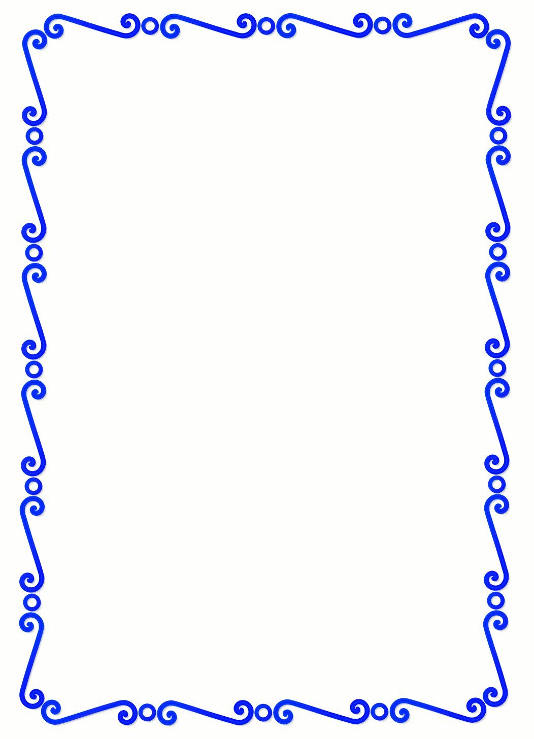 blue page borders